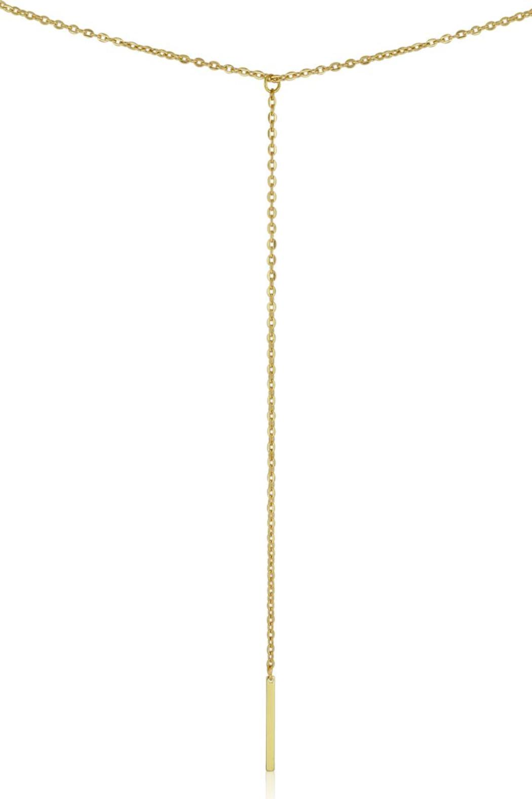 Passiana Gold Lariat Necklace - Main Image