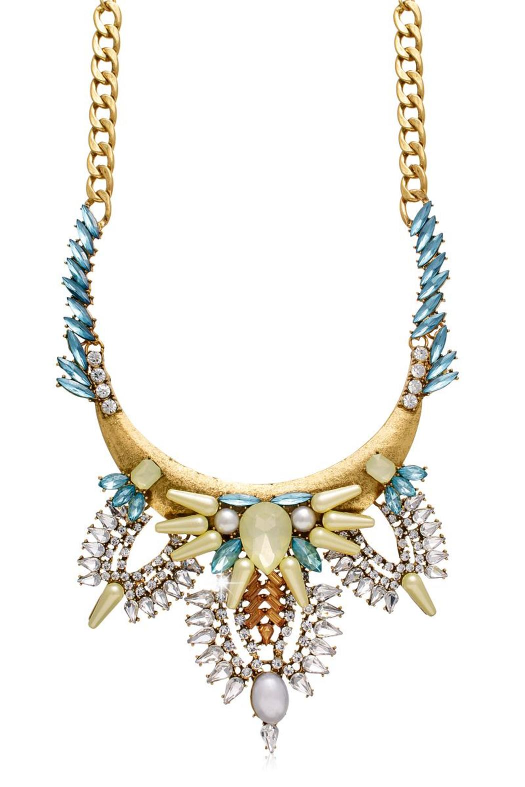 Passiana Gretian Crystal Necklace - Main Image