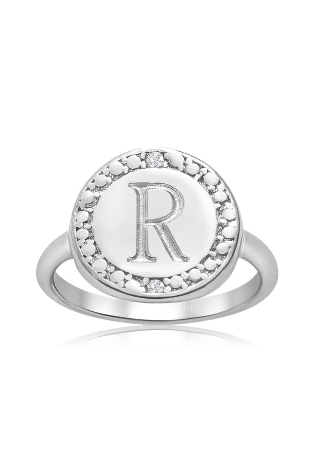 Passiana Initial Ring - Front Cropped Image