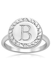 Passiana Initial Ring - Front cropped