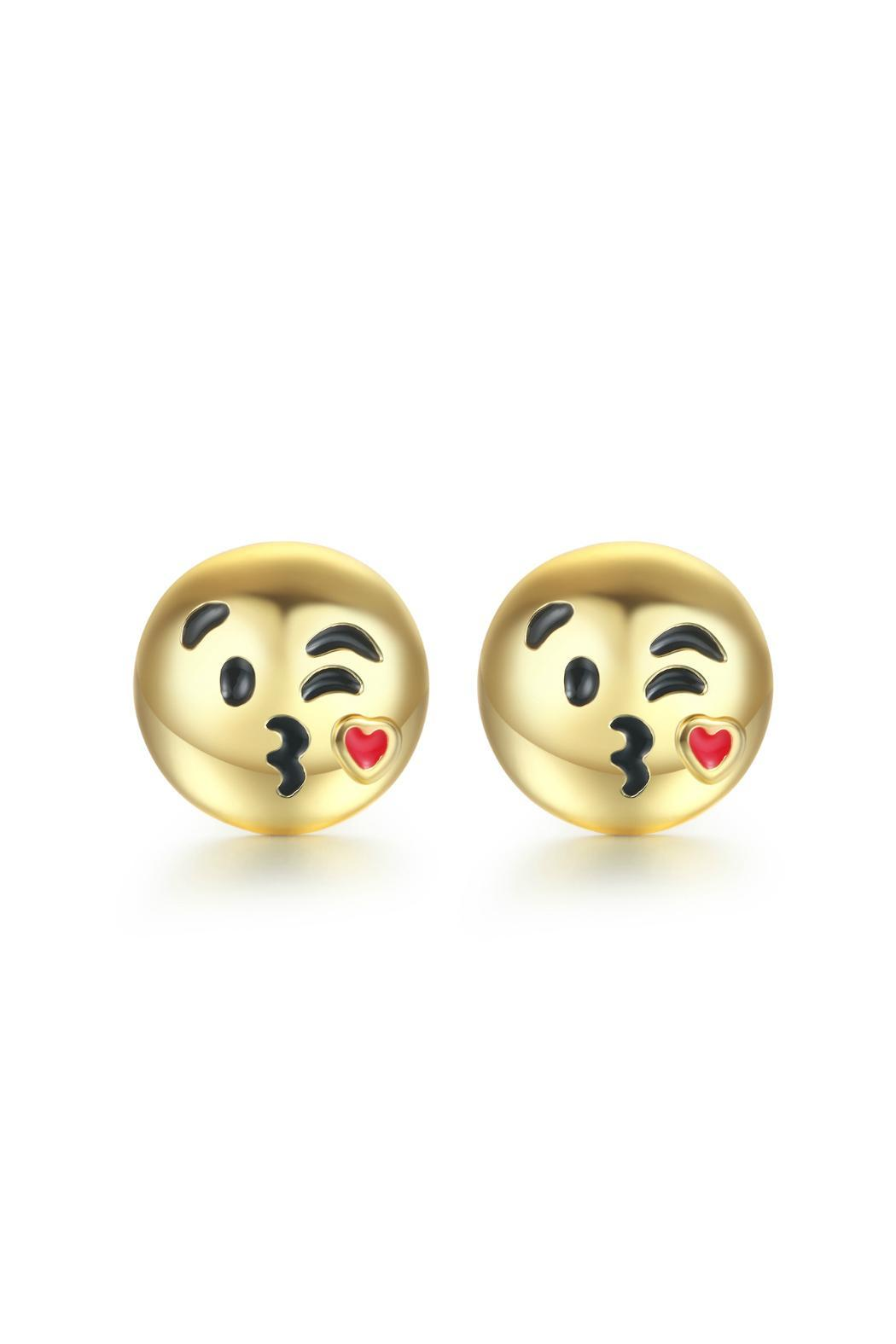 Passiana Kiss Emoji Earrings - Front Cropped Image