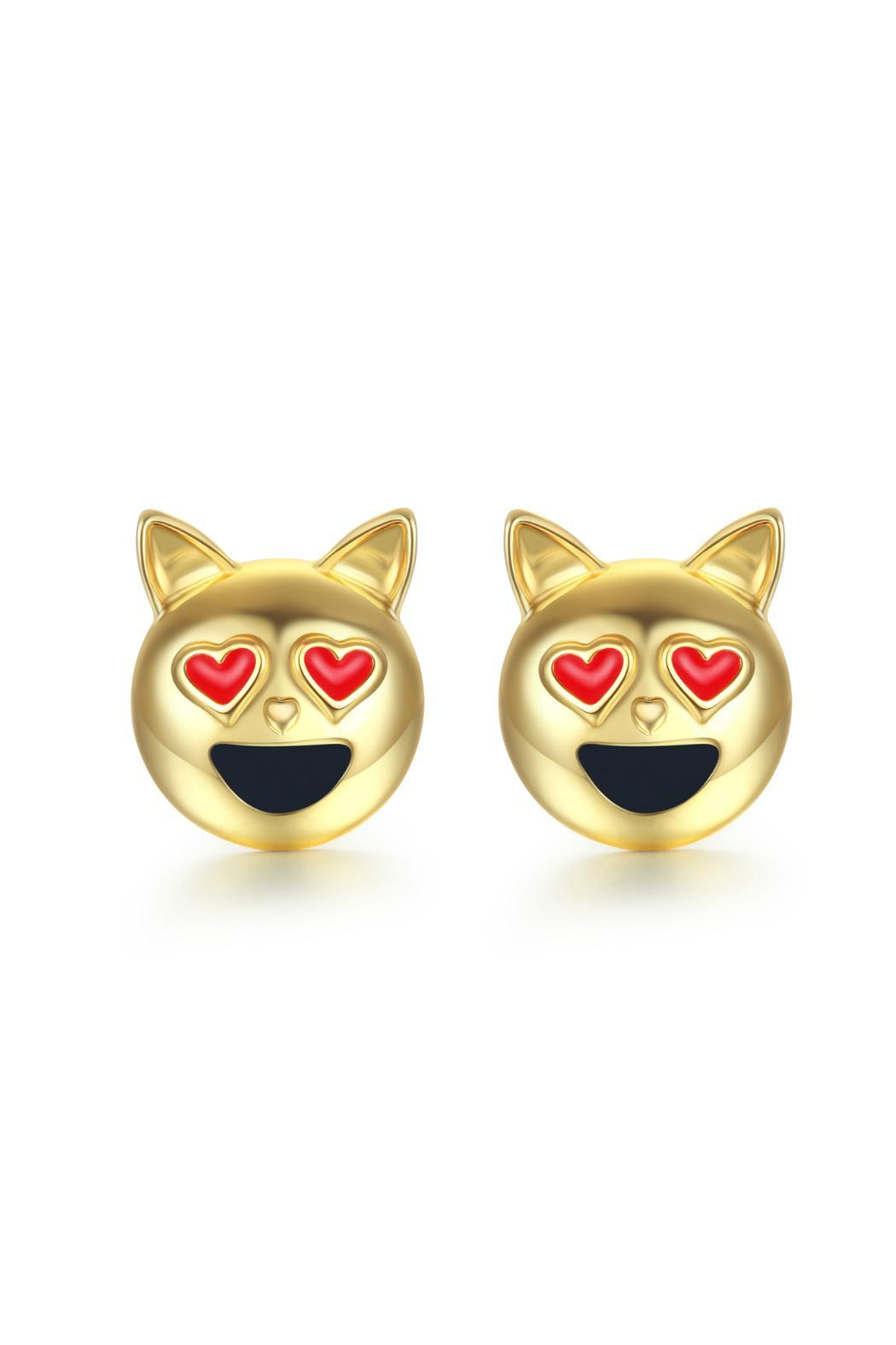 Passiana Kitty Emoji Earrings - Main Image