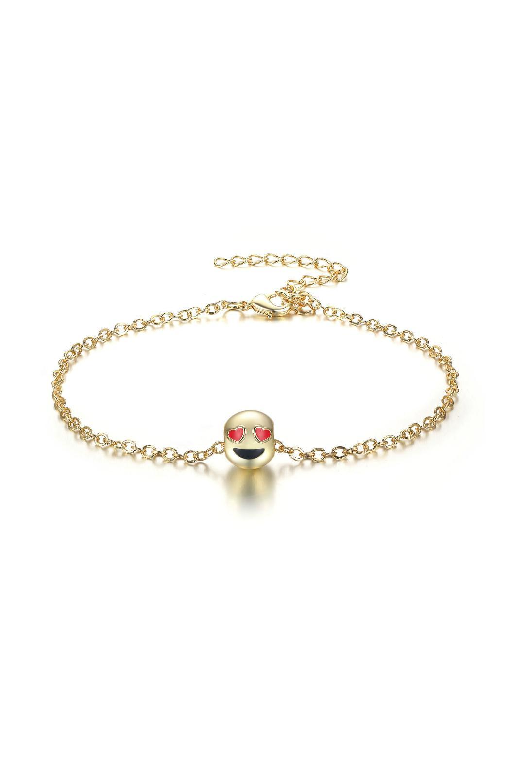 Passiana Love Emoji Anklet - Front Full Image
