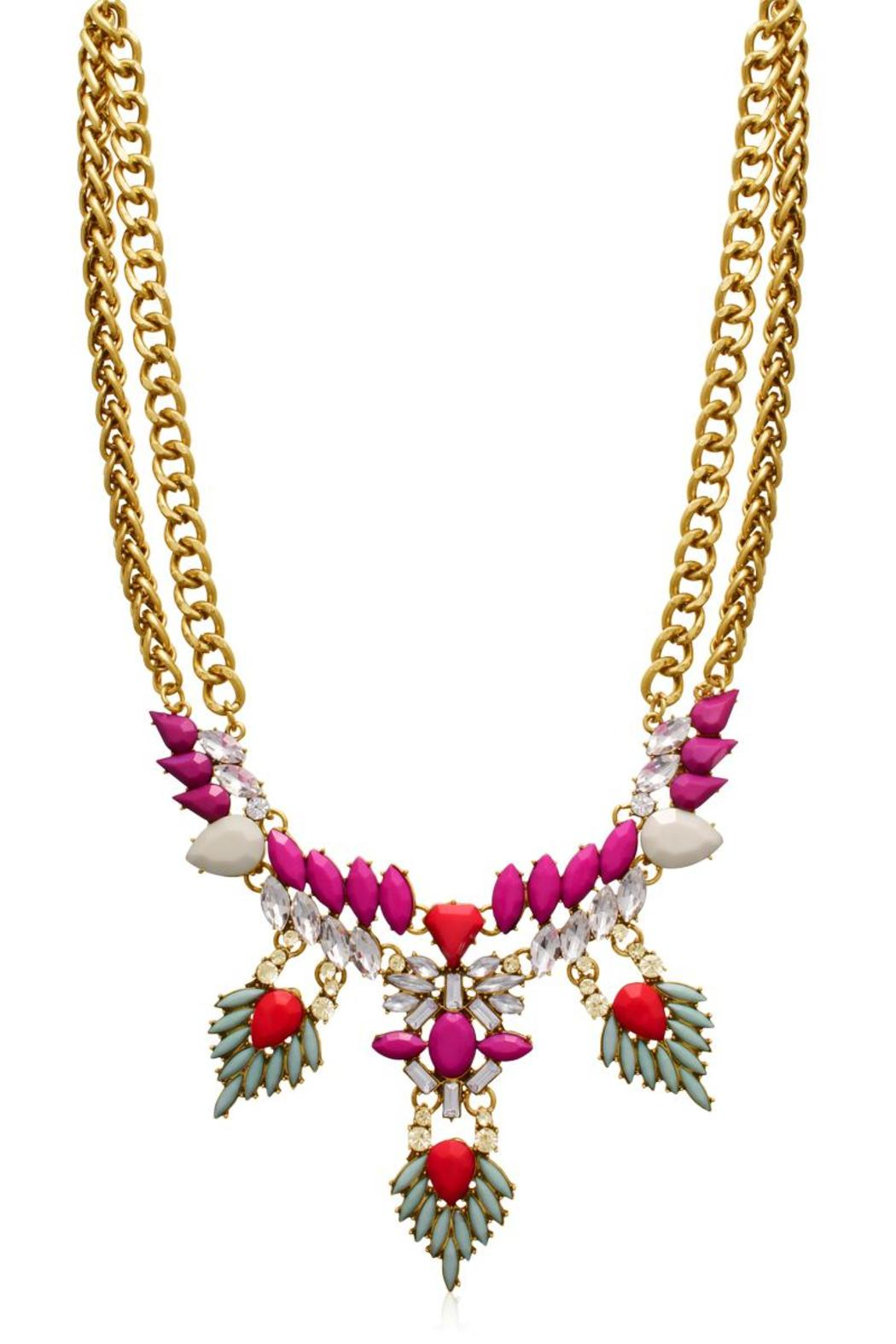 Passiana Magenta Crystal Necklace - Front Cropped Image