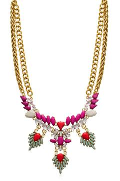 Passiana Magenta Crystal Necklace - Product List Image