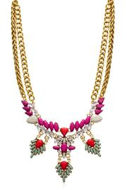 Passiana Magenta Crystal Necklace - Front cropped