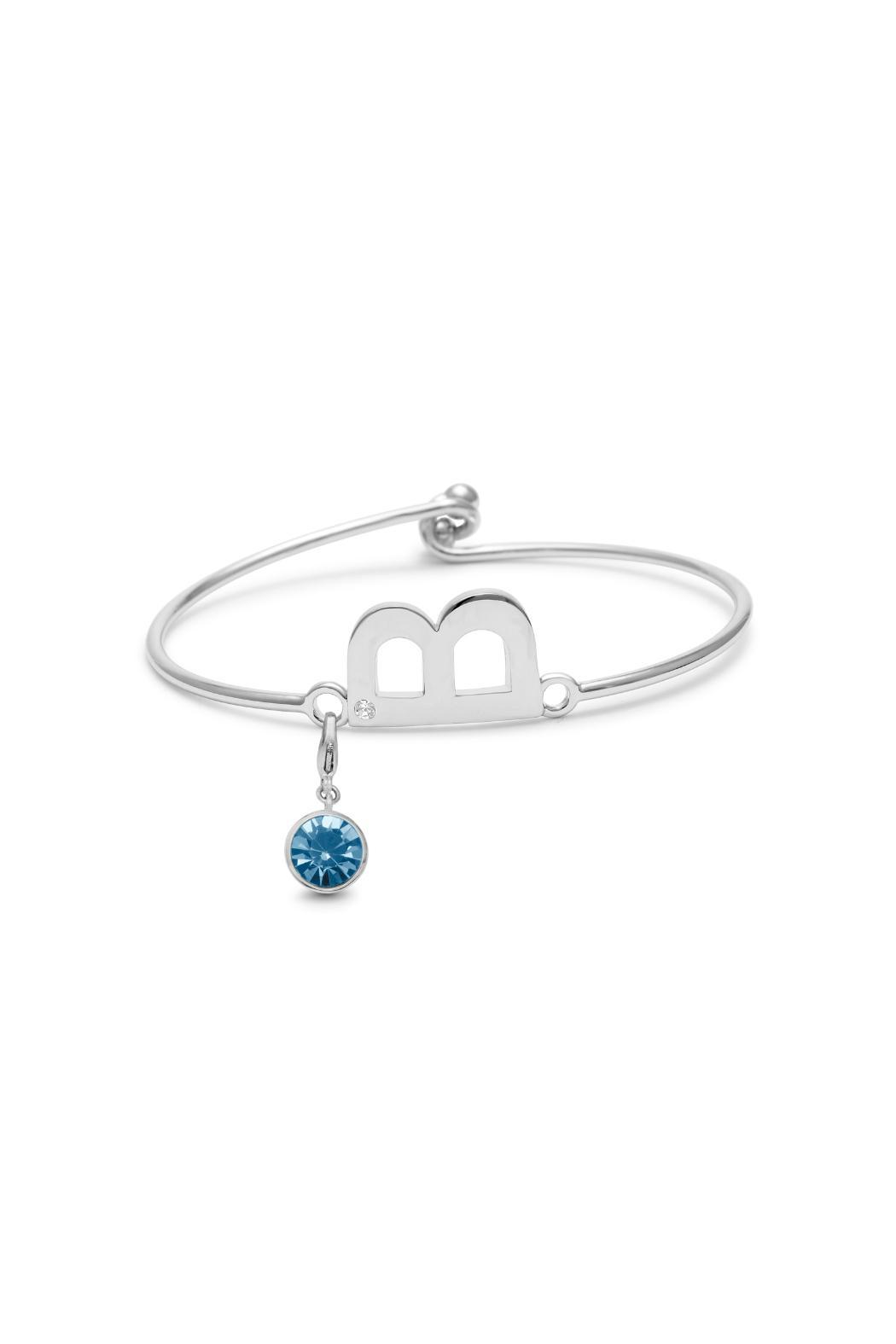 Passiana March Birthstone Bracelet - Front Full Image
