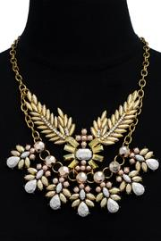 Passiana Metallic Branch Necklace - Side cropped