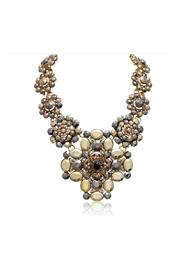 Passiana Metallic Floral Necklace - Product Mini Image
