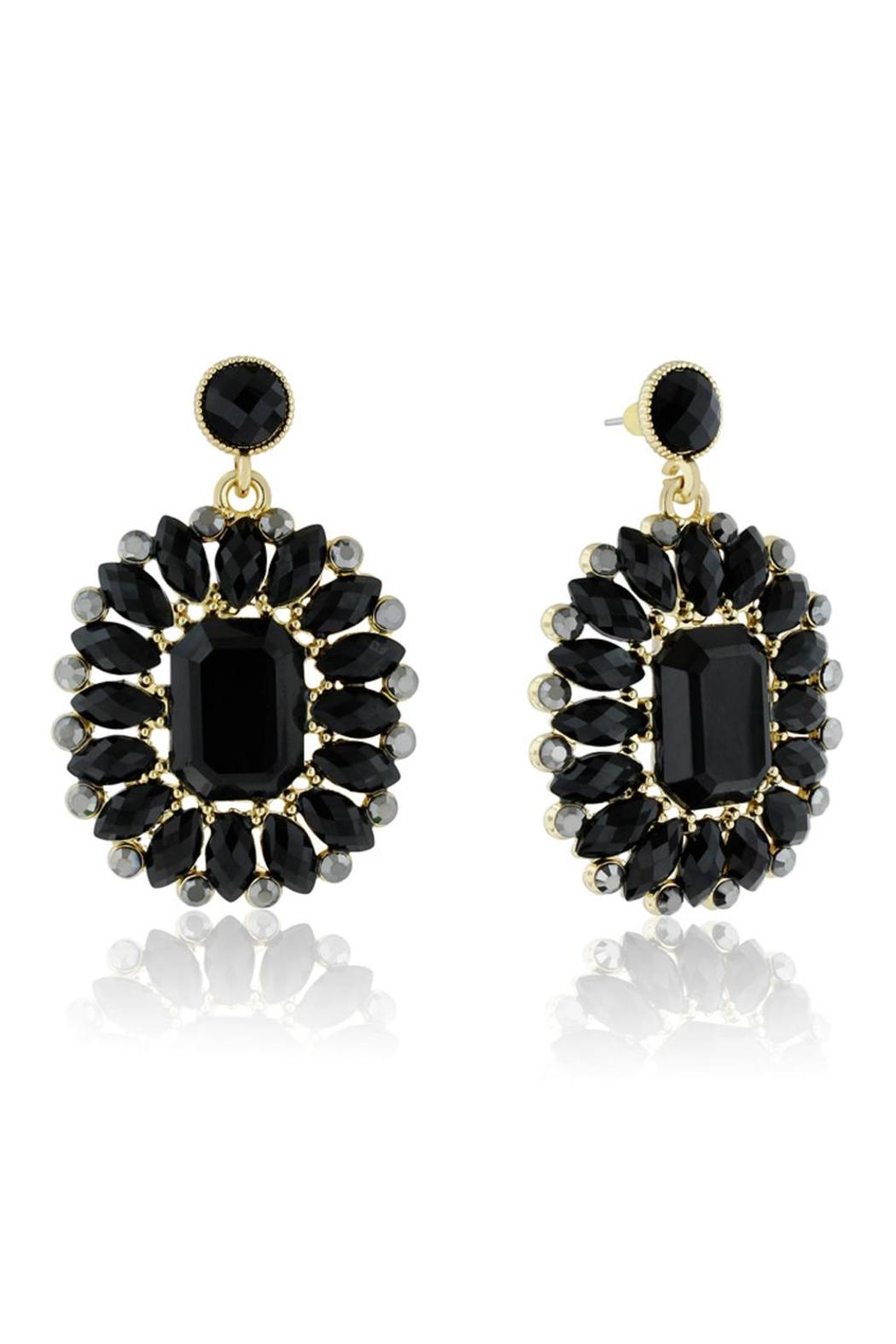 Passiana Midnight Crystal Earrings - Main Image