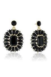 Passiana Midnight Crystal Earrings - Front cropped