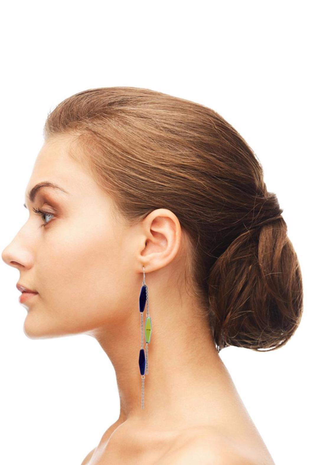 Passiana Midnight Strand Earrings - Side Cropped Image
