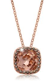 Passiana Morganite Halo Necklace - Front full body