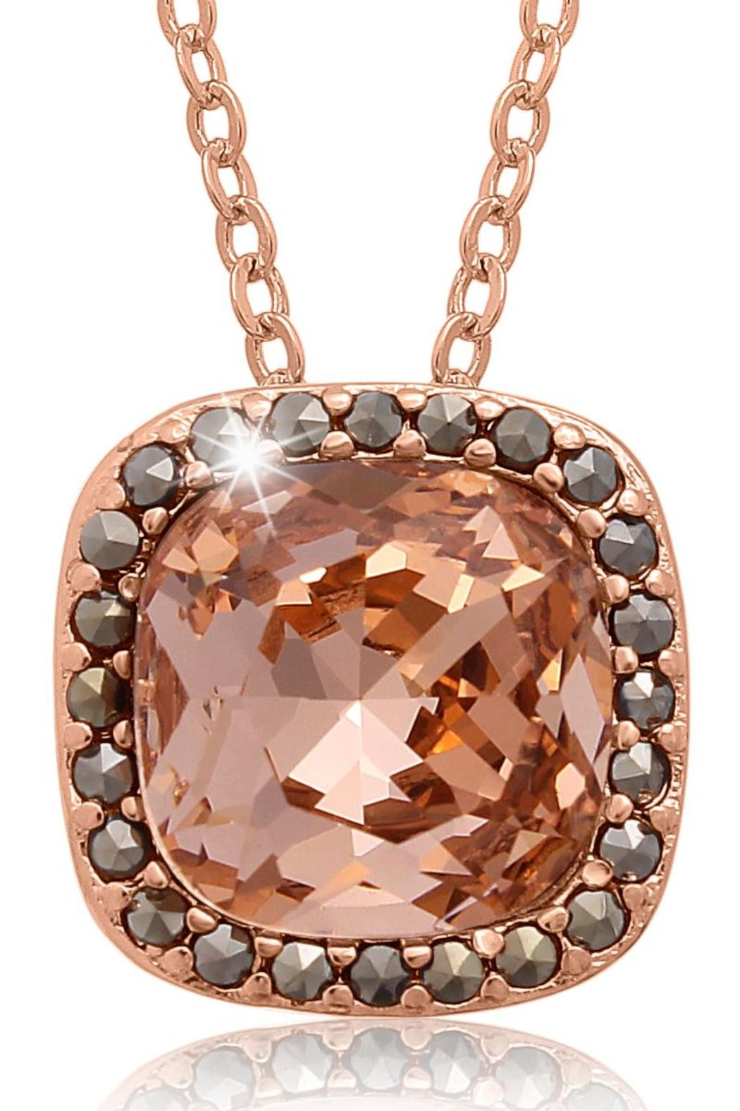 Passiana Morganite Halo Necklace - Main Image