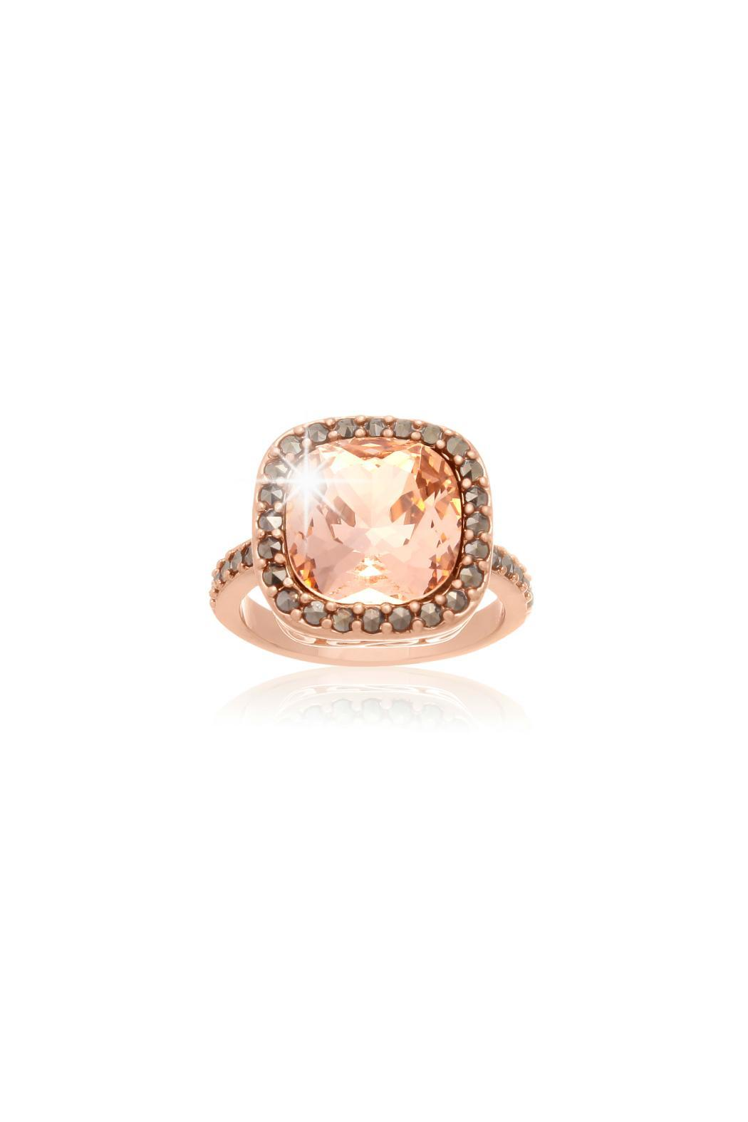 Passiana Morganite Halo Ring - Main Image