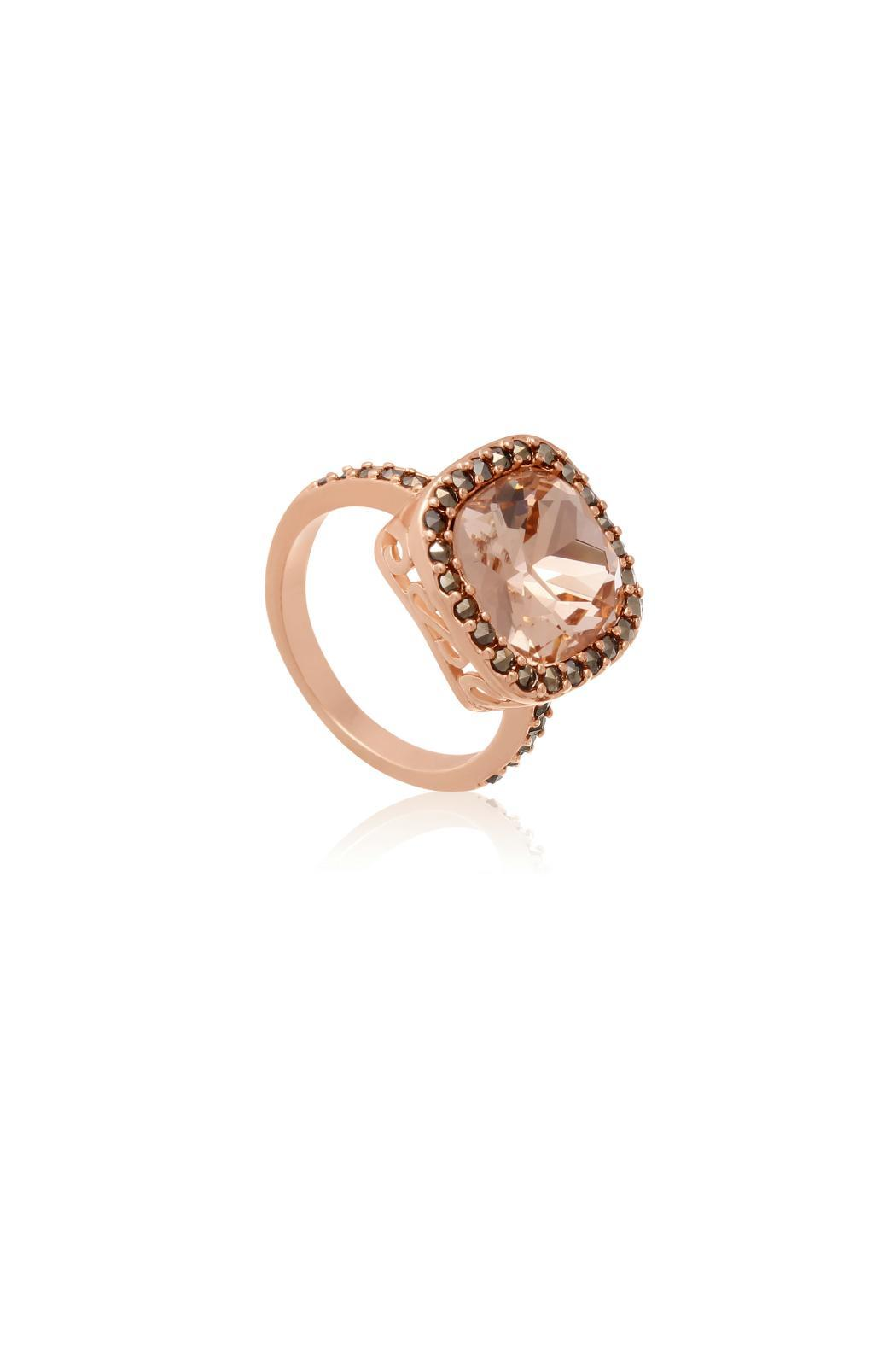 Passiana Morganite Halo Ring - Front Full Image