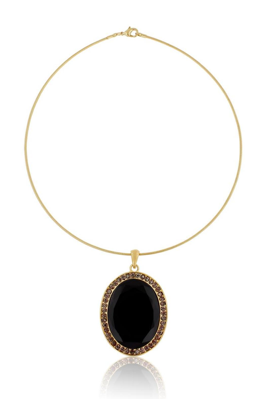 Passiana Oval Drop Choker - Front Cropped Image