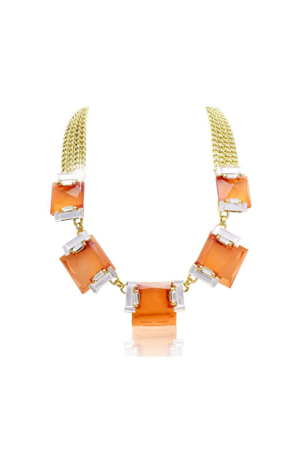 Passiana Padparadscha Crystal Necklace - Front Cropped Image