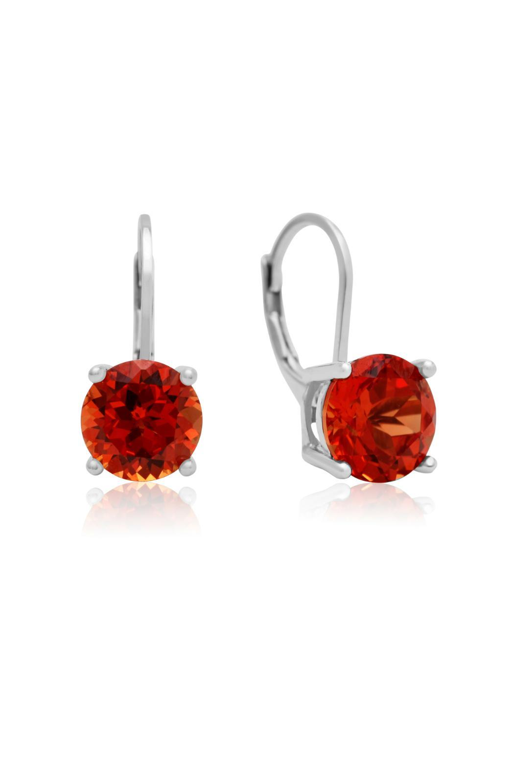 gold yellow sapphire created diamond chatham earrings padparadscha and