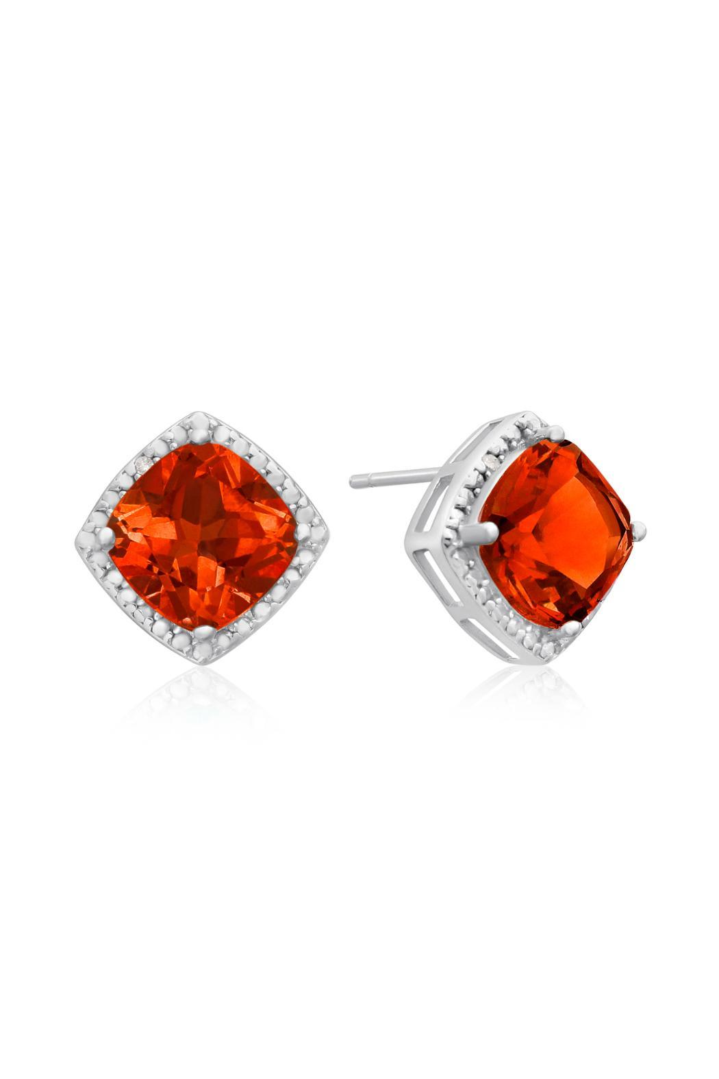 silver shape on carat watches earrings jewelry sapphire in sterling overstock orders created over tgw product free com padparadscha leverback emerald shipping orange