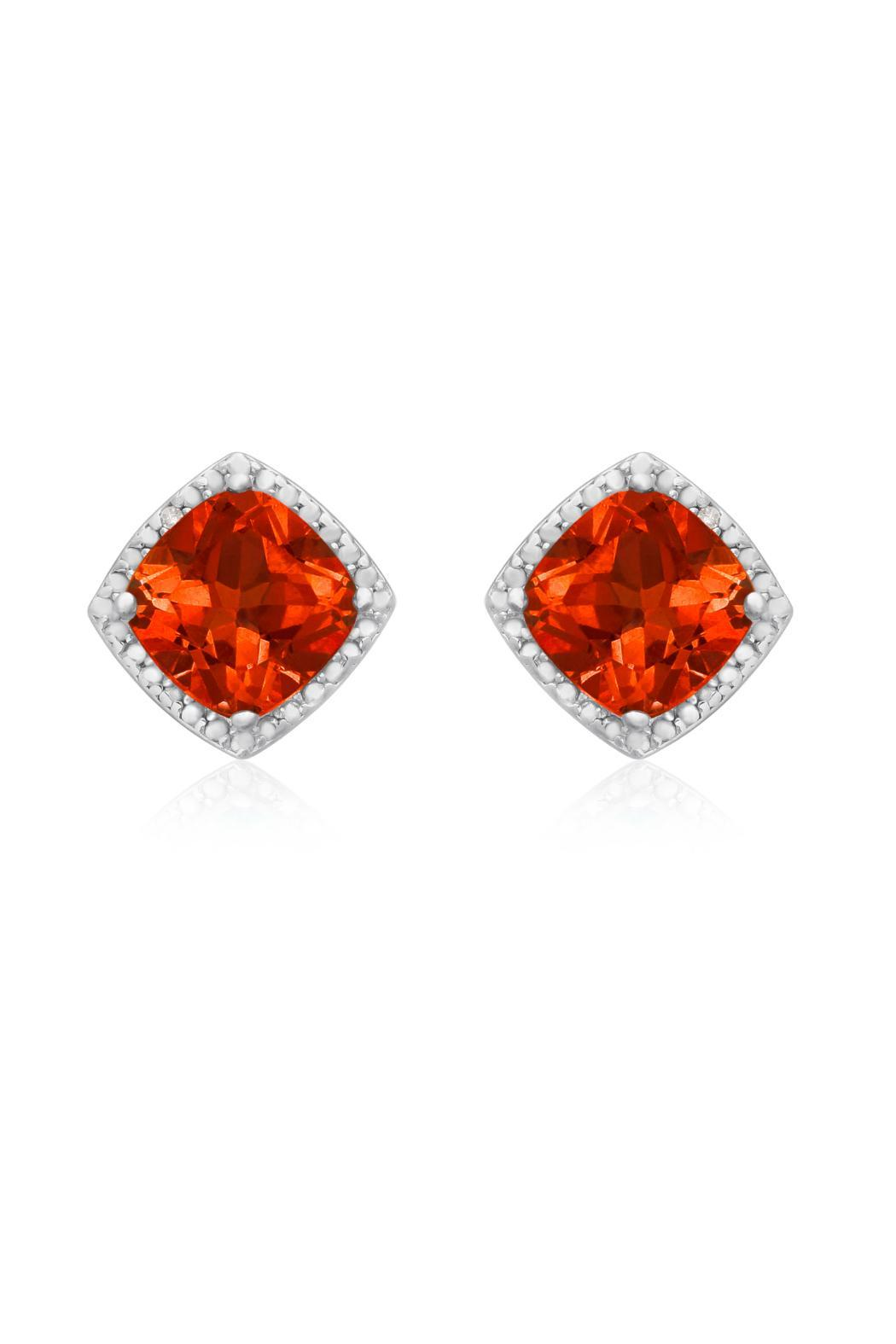 padparadscha david sapphire earrings diamond a surround ring morris of pin nestled ovals white in oval