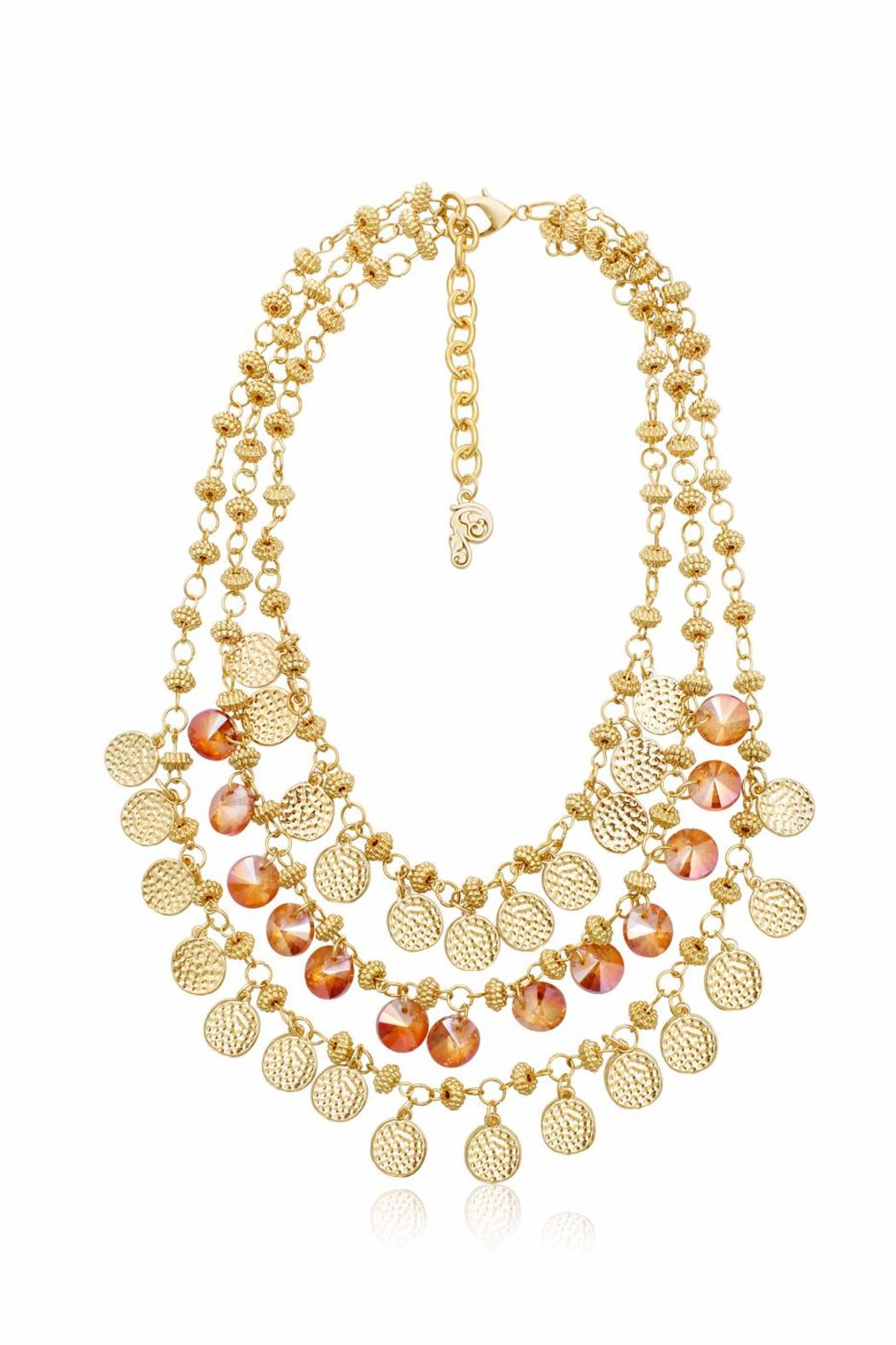 Passiana Peach Crystal Necklace - Main Image