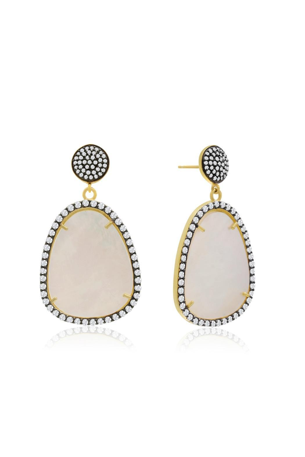 Passiana Pearl Drop Earrings - Side Cropped Image