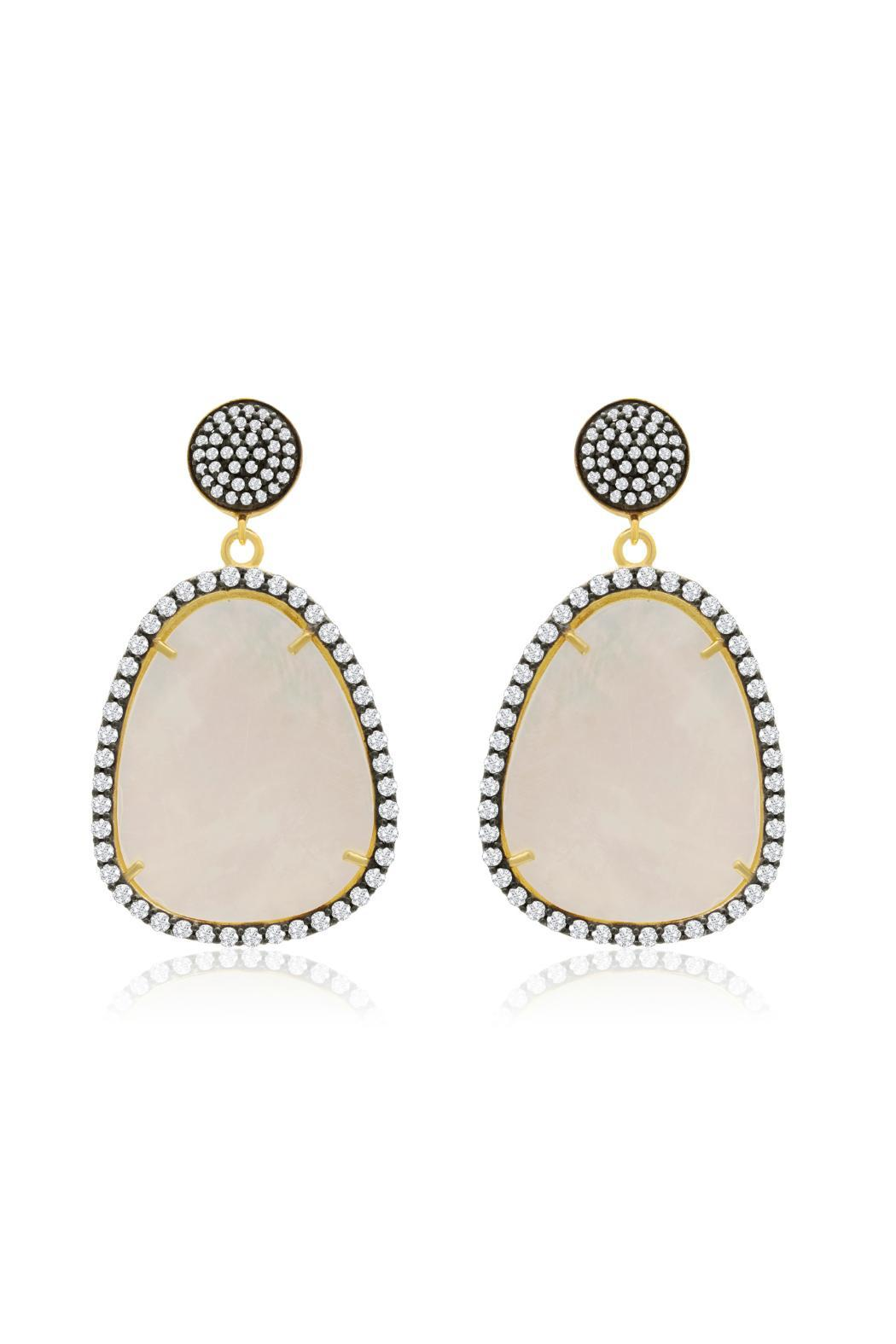 Passiana Pearl Drop Earrings - Main Image