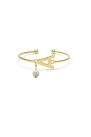 Passiana Pearl Initial Bracelet - Front cropped