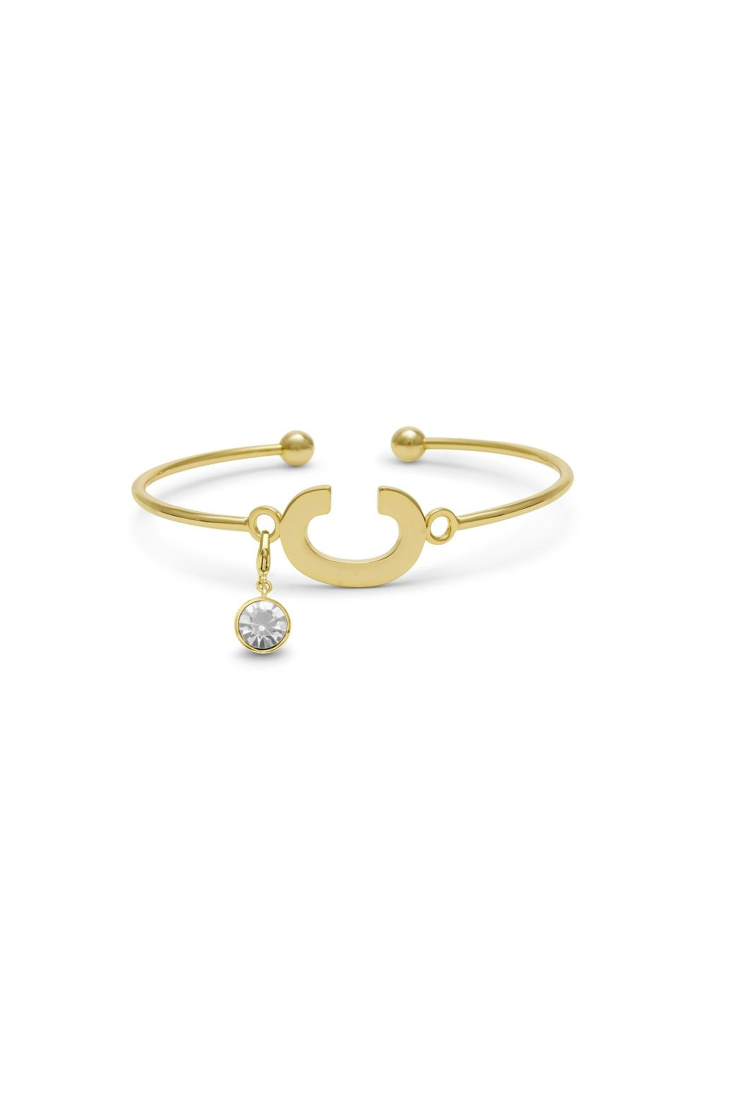 Passiana Pearl Initial Bracelet - Side Cropped Image