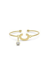 Passiana Pearl Initial Bracelet - Side cropped