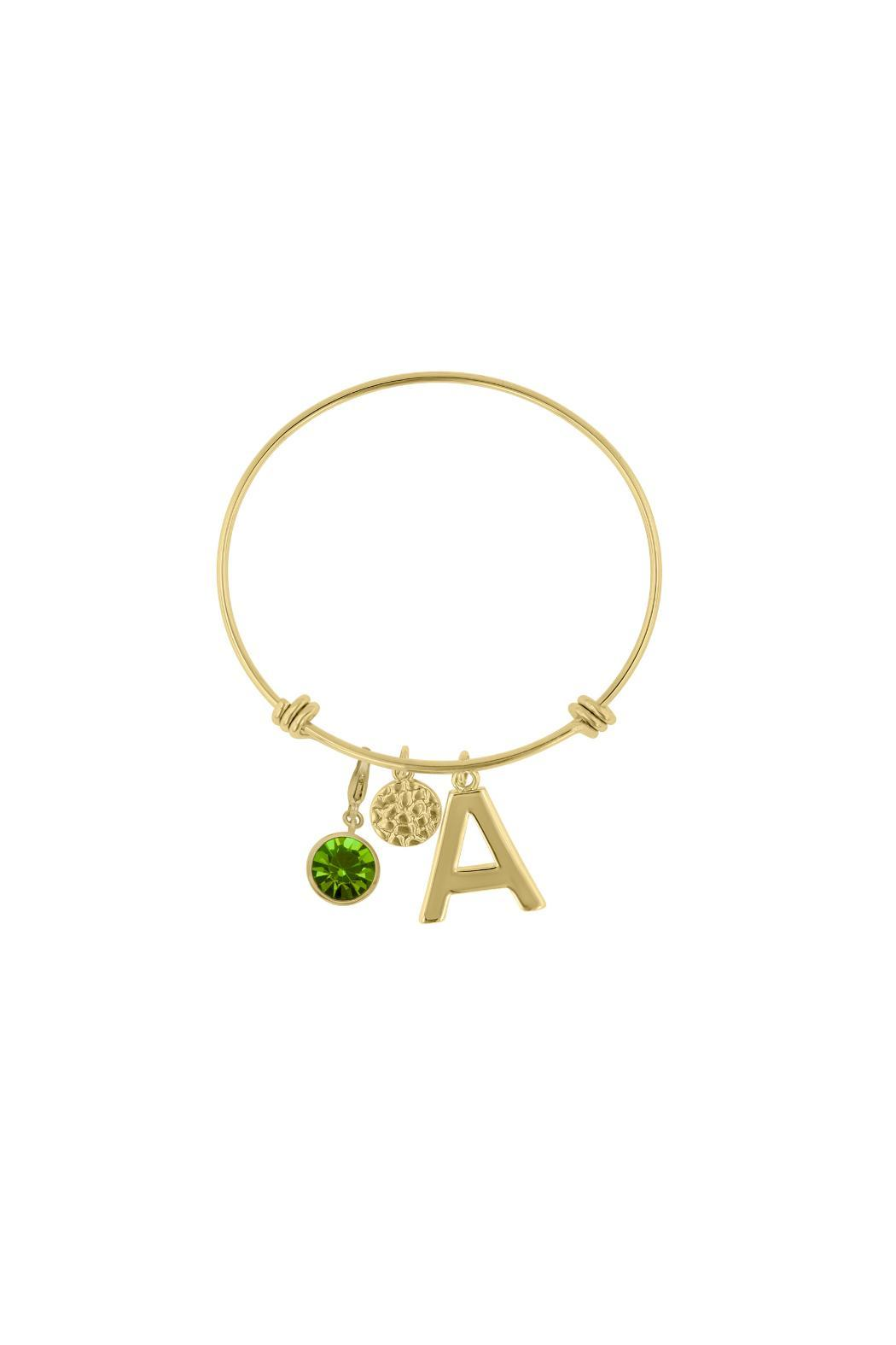 Passiana Peridot Initial Bracelet - Front Cropped Image