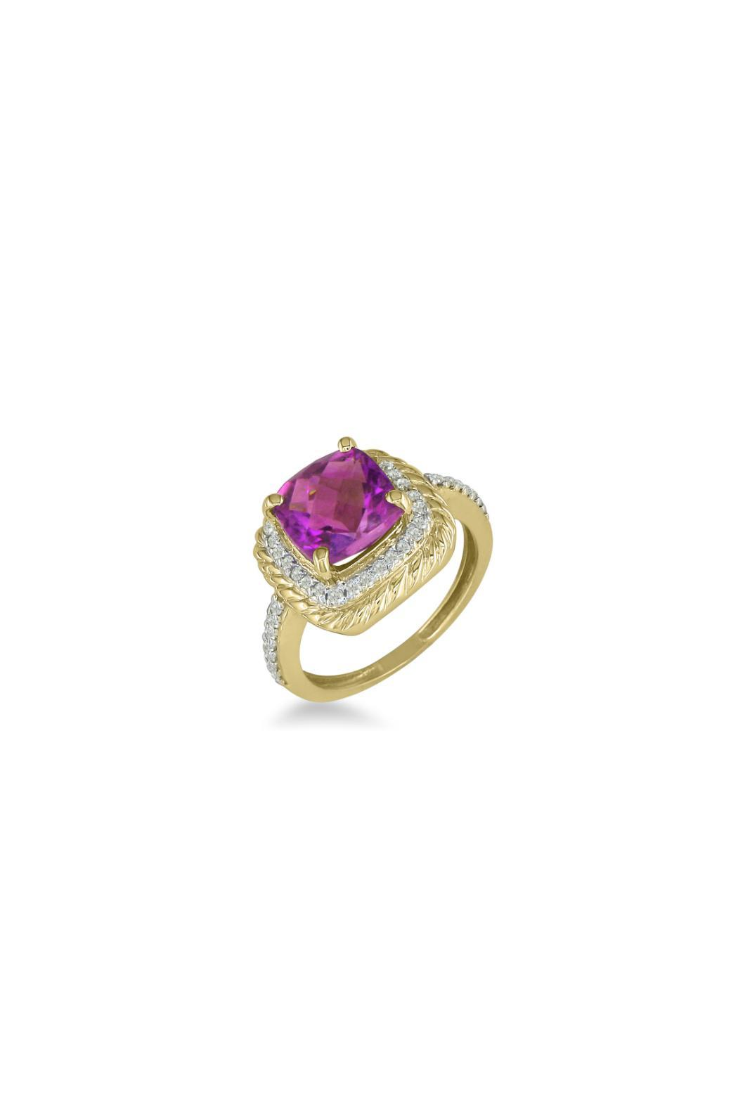 Passiana Pink Sapphire Ring - Front Full Image