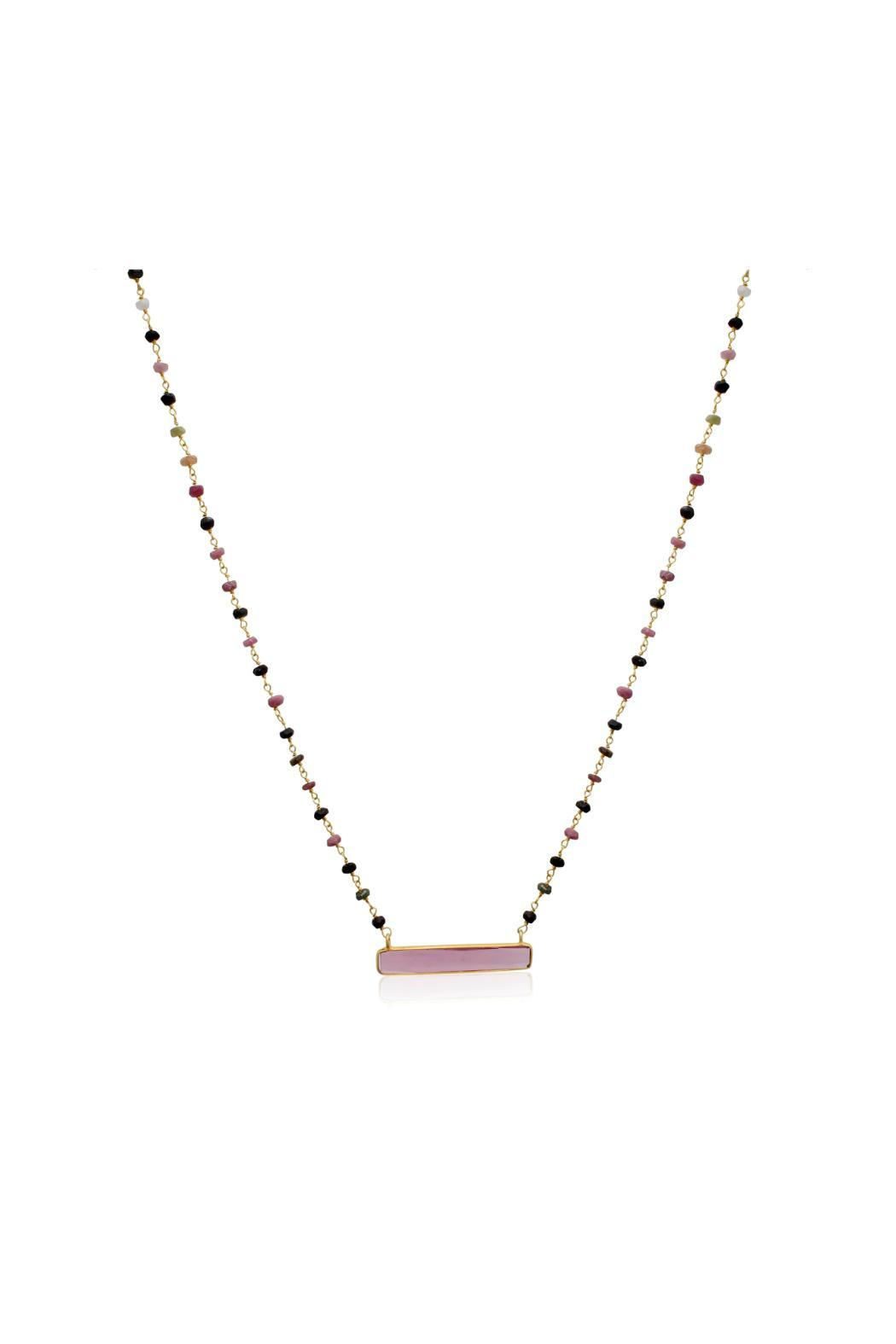 Passiana Pink Tourmaline Necklace - Front Full Image