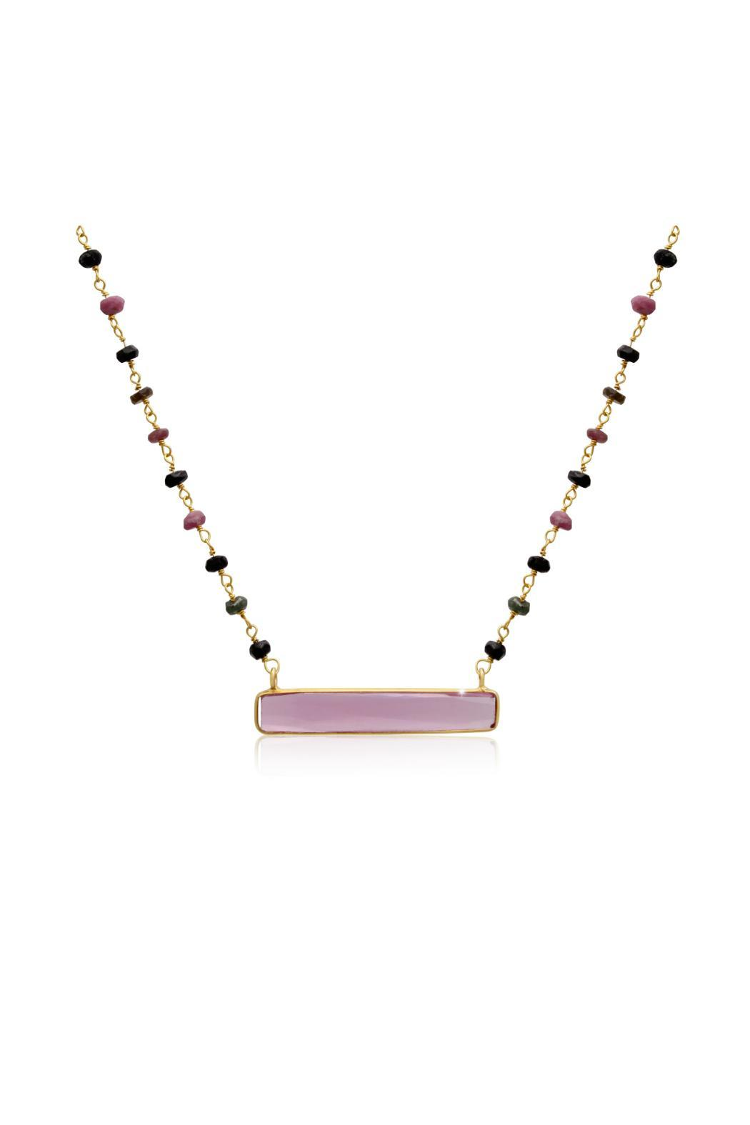 Passiana Pink Tourmaline Necklace - Front Cropped Image