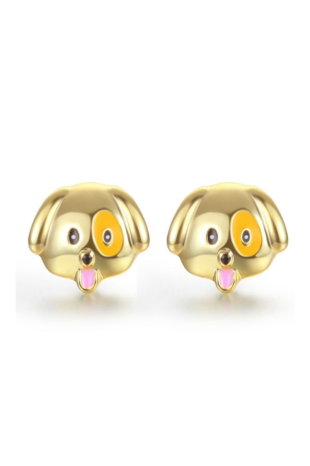 Passiana Puppy Emoji Earrings - Main Image