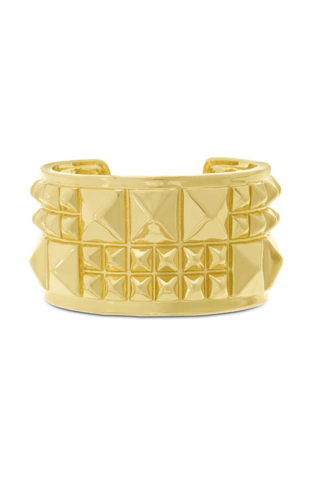 Passiana Pyramid Cuff Bracelet - Front Cropped Image