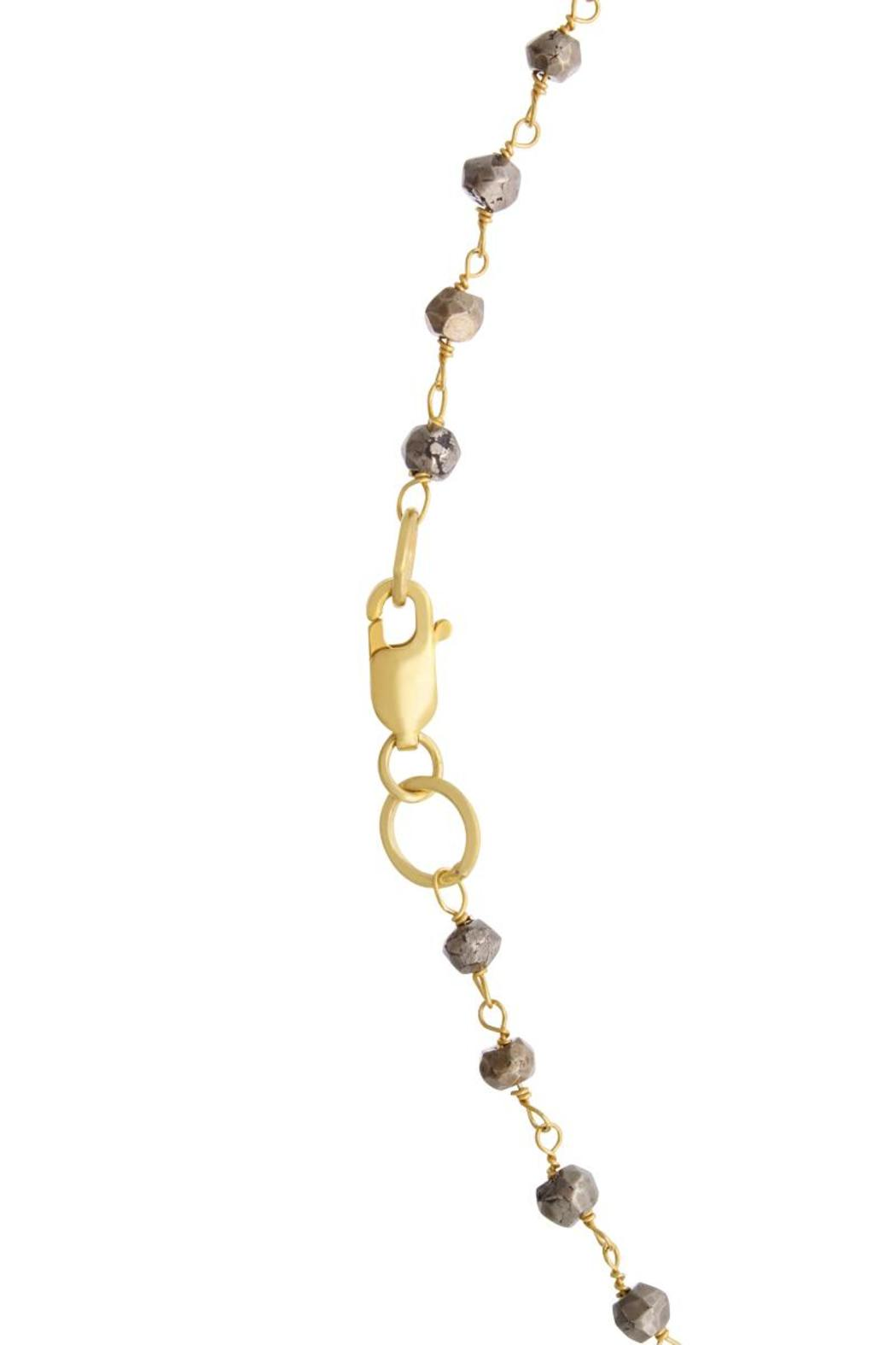 Passiana Pyrite Lariate Necklace - Back Cropped Image