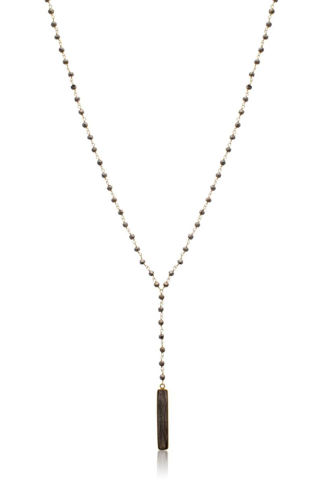 Passiana Pyrite Lariate Necklace - Side Cropped Image