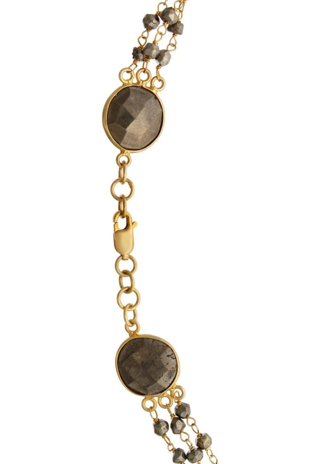 Passiana Pyrite Strand Necklace - Side Cropped Image