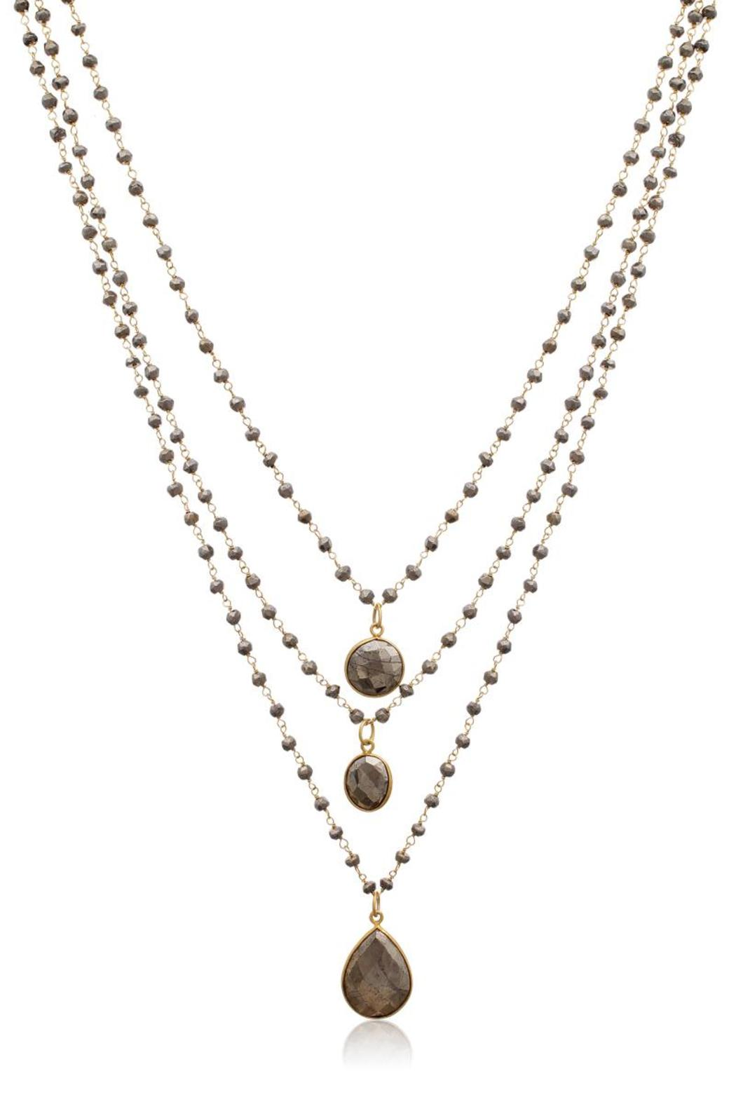 Passiana Pyrite Strand Necklace - Front Full Image