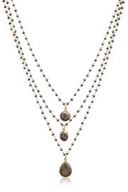 Passiana Pyrite Strand Necklace - Front full body