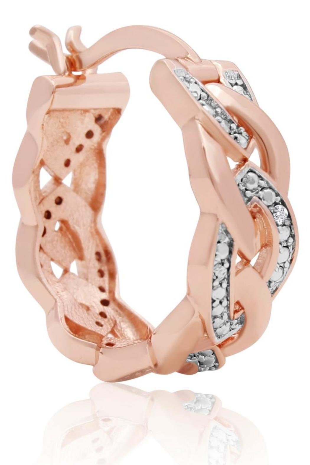 Passiana Rose Gold Hoops - Front Full Image