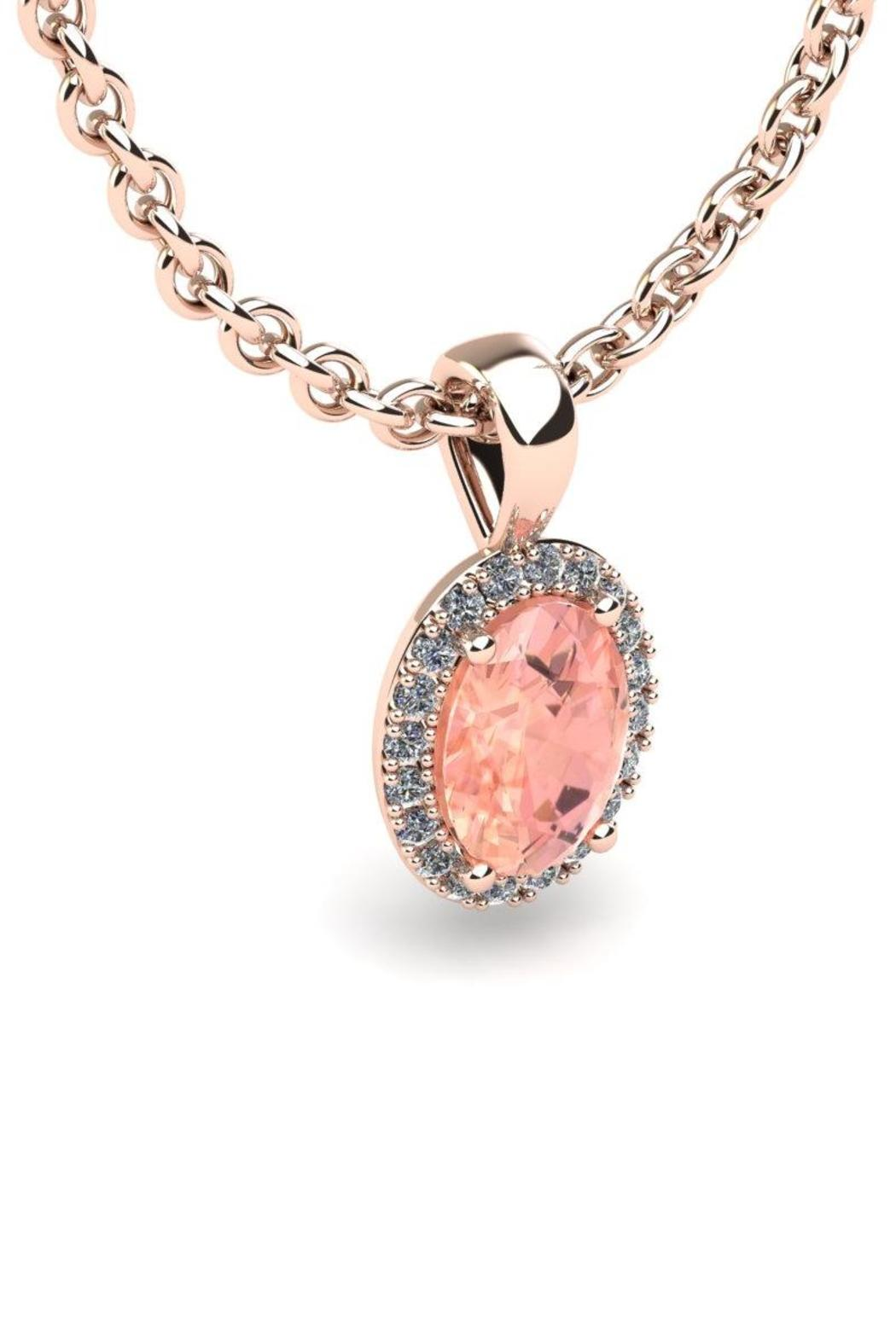 Passiana Rose Morganite Necklace - Front Full Image