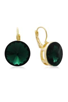 Shoptiques Product: Round Emerald Earrings