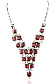 Passiana Ruby Crystal Necklace - Product Mini Image