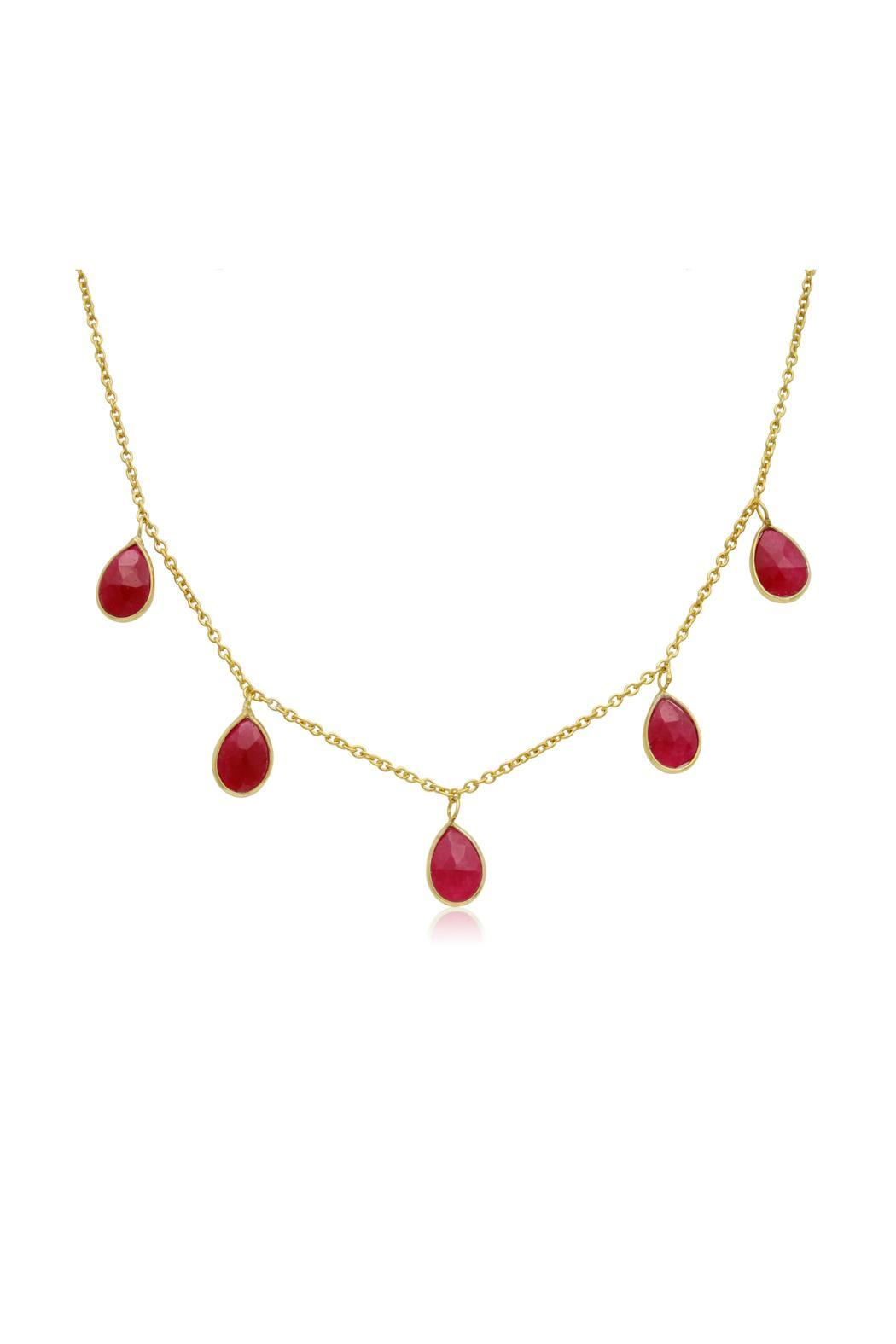 pnd real yellow ruby chain diamond gold necklace red pendant charm royal set