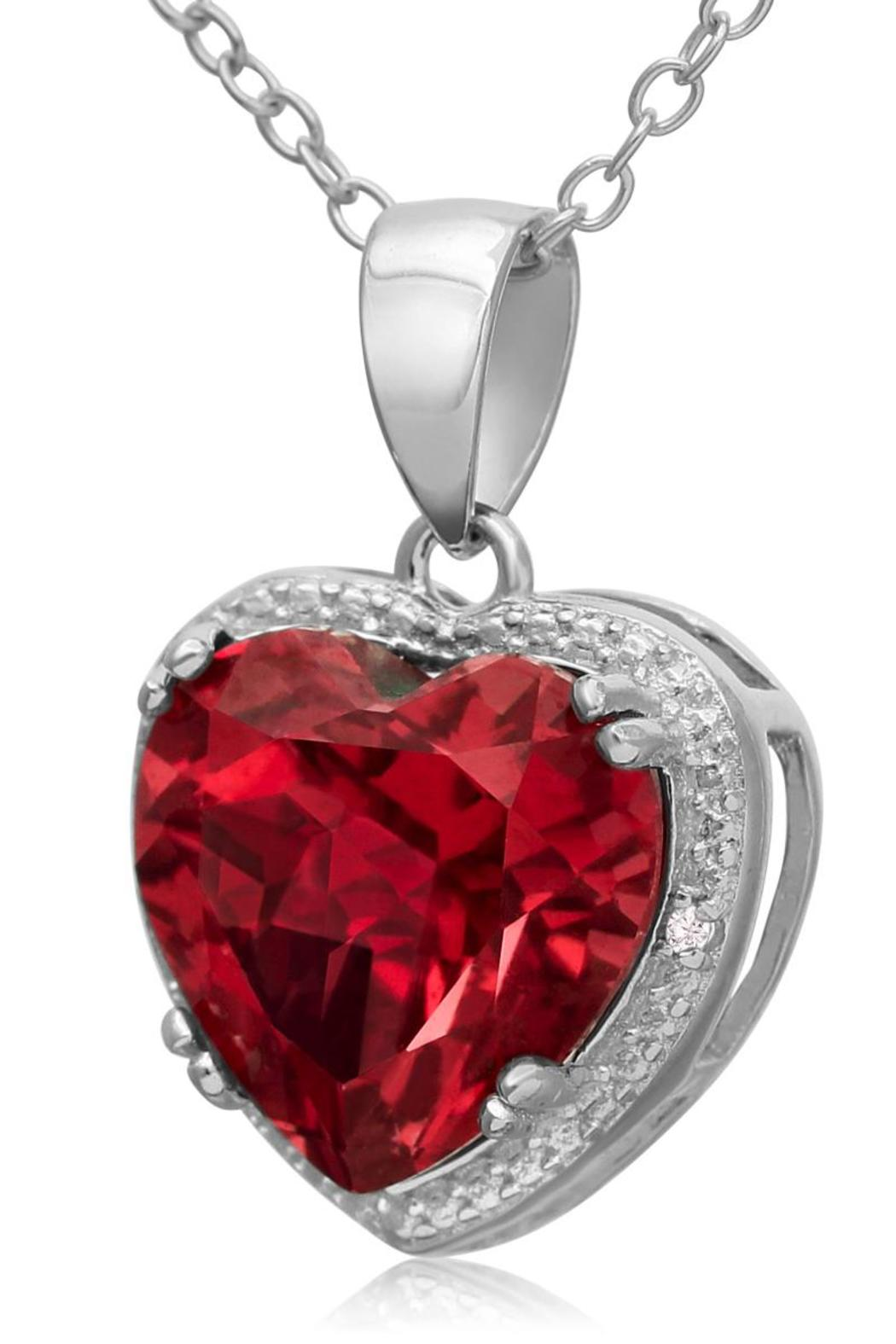 passiana ruby heart necklace from manhattan by 6th borough
