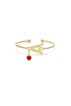 Passiana Ruby Initial Bracelet - Product List Image