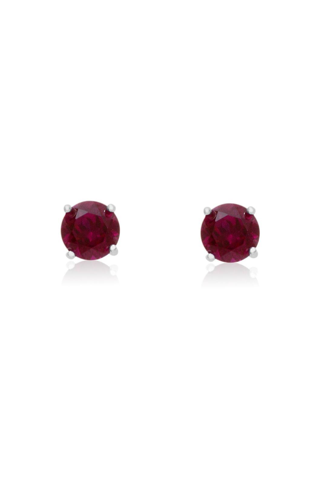 passiana ruby stud earrings from manhattan by 6th borough. Black Bedroom Furniture Sets. Home Design Ideas